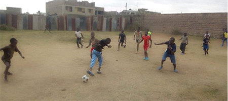Chalice Njiru Stars helping the community in Kenya